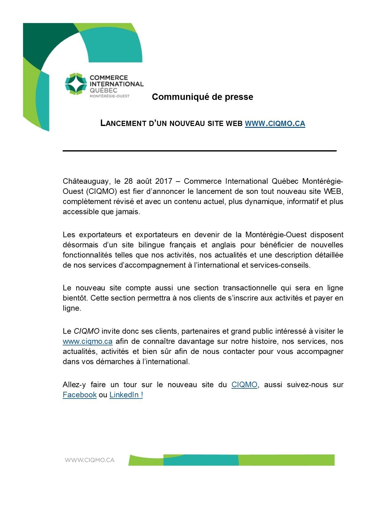 Services…   Commerce International Québec Montérégie-Ouest 4ae3f2c35adc