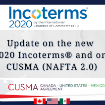 Update On The New 2020 Incoterms® And On Cusma Nafta 2 0